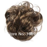 Шиньон 50pcs/lot* 4 Colors Hair Extension Pony Tail Bride Bun Hairpiece Fake Hair Scrunchie Wavy Dropshipping LX0008#50