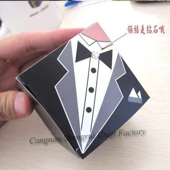 2010 Popular noivo e noiva caixa quadrada