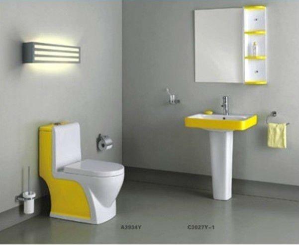 Belle couleur couleur de toilettes salle de bains wc vert couleur toilettes salle de bains id de - Wc c olour grijze ...