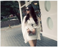 Hot Sale Korean Style Distinctive Bat Chiffon Dress Two Piece Free Shipping+100%Quality+Wholesale Low Price For Promotion