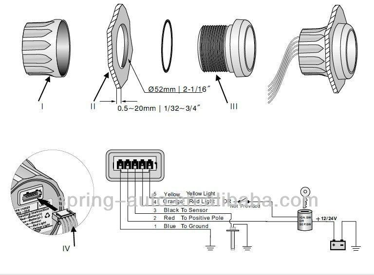 52mm Digital Fuel Level Gauge Meter, Kus Fuel Gauge Wiring Diagram