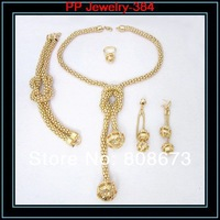 Ювелирный набор High Quality Gold Plated Ball Pendent Luxury Wedding Bridesmaid Costume Jewelry Set