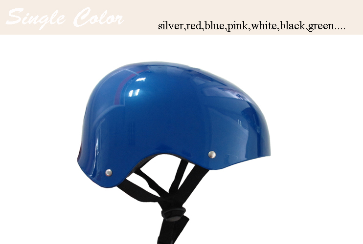 Plain color Helmet in cool Skull design and quality had pass CE and CPSC test (FH-HE008)