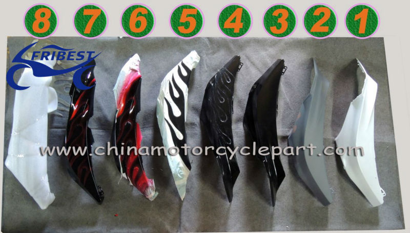 For SUZUKI GSXR 750 2011 2012 carenages de moto ALL GLOSS BLACK FFKSU006