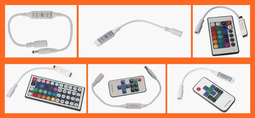 12V LED Mini 3 key remote control rgb controller