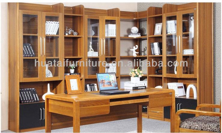 Vente chaude coin en bois massif biblioth u00e8que moderne conception combinaison d'angle en bois  # Bibliotheque Bois Massif Moderne