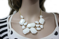 2012 Fashion Inspired Bubble Jelly Acrylic Jelly Bib Statement Necklace Free Ship N210