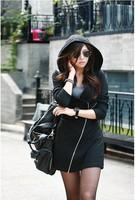 Женские толстовки и Кофты Cool Vintage Womens Hoodie Long Sleeve Top Dress Mini Zip s Hoodies Coat Tops