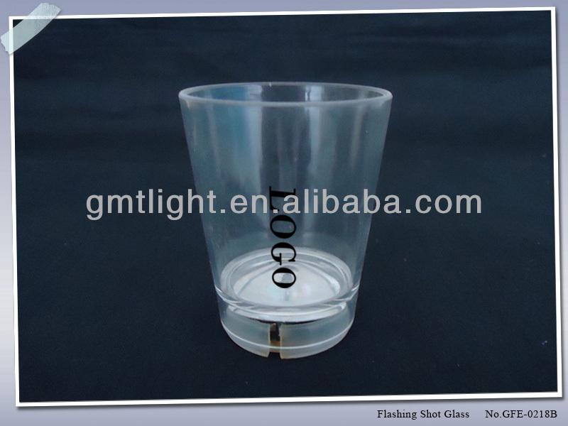 Flashing Glitter LED Light Up Shot Glass