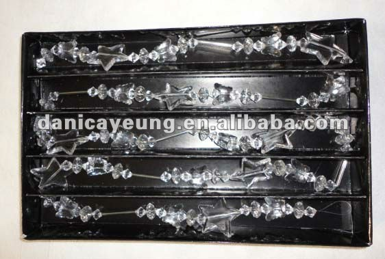 Glass garland decoration view glass christmas arland for Arland decoration
