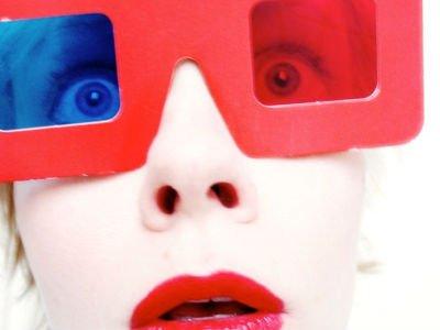 oversized red plastic novelty sunglasses