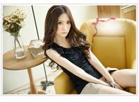 женщин основных sext тонкий кружевной жилет o воротник жилет розовый черный свободный размер 0019