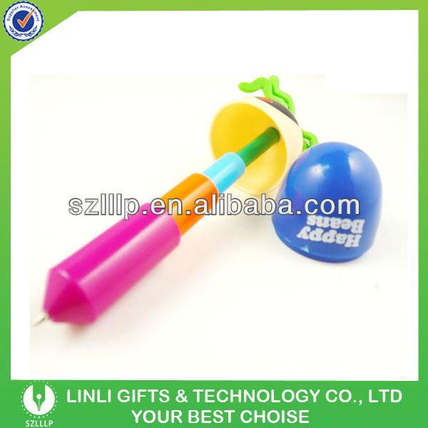 OEM logo extendable ballpen with key ring