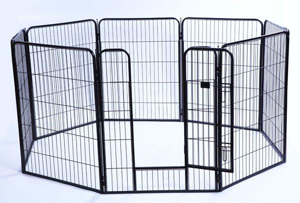 nantong yuanyang Black 8 Panel Heavy Duty Pet Playpen Dog Exercise Pen Cat Fence yuanyang