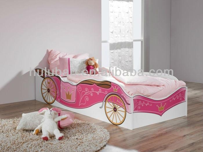 Durable kids cartoon bed for preschool/kindergarten wooden bed ...