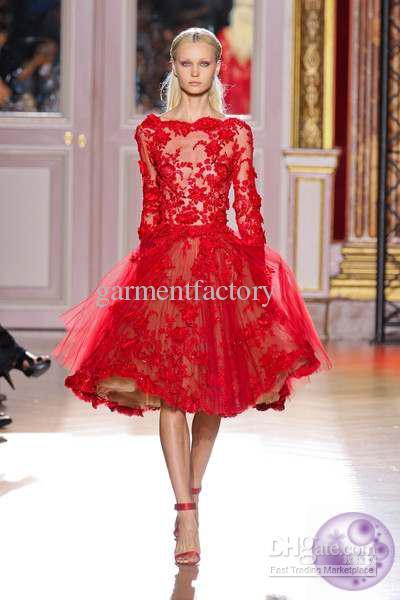 Robe soiree dentelle rouge