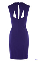 New Arrival 2013 Brand Designer Purple/Black Women Sexy Evening Dress/Ladies High Quality Vintage Cocktail &Party Dresses K20012
