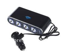 Кабели, переходники и розетки для авто 4 Socket DC 12V USB