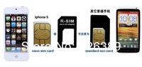 Адаптер для SIM-карты OEM 100set/3 1 nano/sim iphone 5 5 g