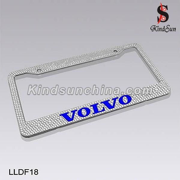 Shenzhen Diamond rhinestone car license plate frame with bling design