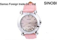 Наручные часы 5pcs/lot SINOBI brand Women's Fashionable Leather Crystal Quartz Watches s9276l