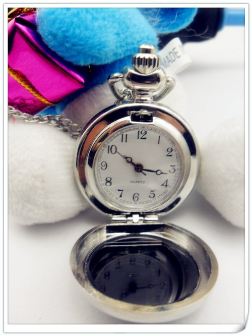2012 new desgin Antique Princess Quartz Bronze Pendant Pocket Watch Necklace / Free Shipping