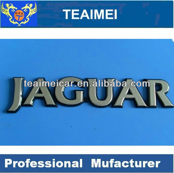 Jaguar car letter chrome emblem auto badge sticker