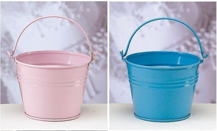 New arrival !! Tin Favor Pails, offer matching Yarn Bag as free gift. wedding candy box,