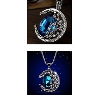 Цепочка с подвеской New Blue Moon Necklace Sailor Moon Pendant Necklace Cosplay