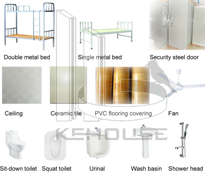 Easy assemble galvanized steel modular residential building plans