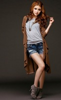Женская куртка New fashion I Q shop/ extend version of cardigan/ Hipsters dust coat / special offer