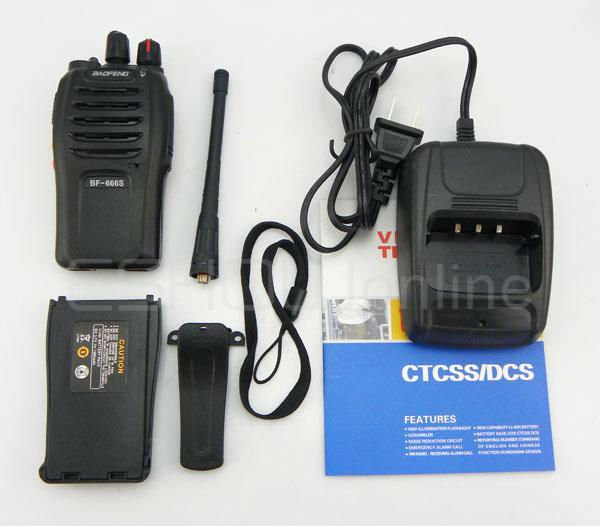 New 5W 16CH Walkie Talkie UHF BF-666S Interphone Transceiver Two-Way Radio Mobile Portable Handled A0782A Eshow