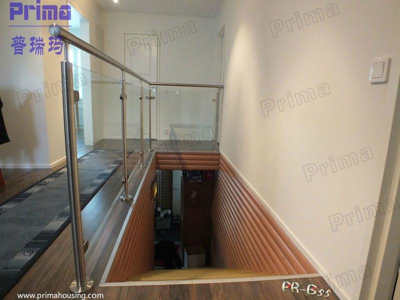 escalera de acero partes interiores balaustrada de vidrio pasamanos de acero inoxidable