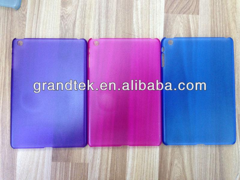 mobile phone case/ transparent color matte hard case For ipad mini
