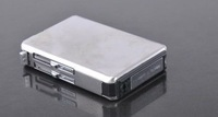 Зажигалка Retail- smooth silver mirror stainless steel Cigarette Case Holder Cigar Lighter Dispensers dropshipping