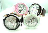 Наручные часы round dial WHITE leather Sports quartz watch unisex men women wrist watch top quality