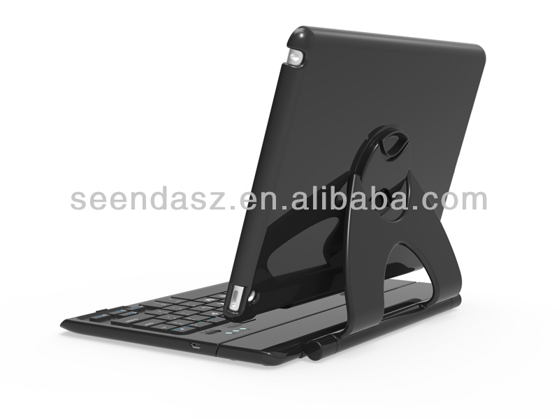 Wireless Bluetooth Keyboard Rotating Case Cover Stand for Apple iPad Air
