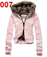 Женские толстовки и Кофты 026# 1pcs/lot Brand New Women's Sweater Hoodies & Sweatshirts Jacket Coat Size S, M, L, XL