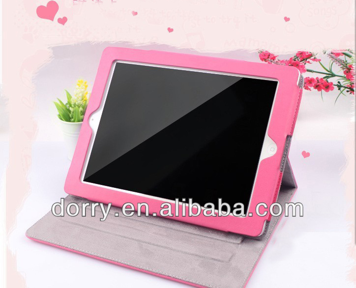 Cheap smart ipad 2 case Easy to Open / Close with Magnetic Flip,