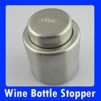 Крышки, Пробки для бутылок New Stainless Steel Vacuum Sealed Wine Bottle Stopper ZS01061