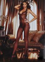 Корсет a piece of Women Sexy Lingerie Open Crotch Little Net Eye Body Stockings FL032