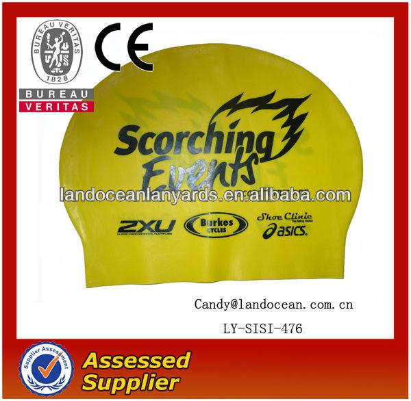 2014 Fashion Custom hot sale Cheap Rubber Swim cap