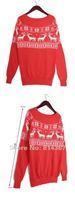 Женский пуловер FASHON XMAS CREW NECK SNOWFLAKE REINDEER PATTERN JUMPER SWEATER TOP WF-0033