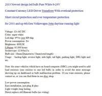 Система освещения 2 X 1156 BA15S 30W Cree 2011 Volkswagen Jetta tiida hover
