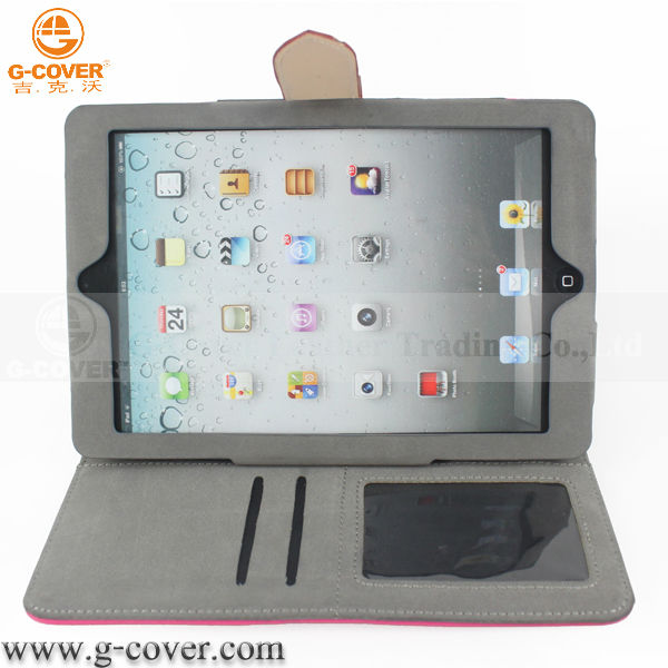 2014 new stylish For ipad mini leather case
