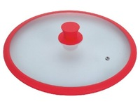 Крышка Diameter:14cm Pot lid made of silicone and glass manufacturer sell directly