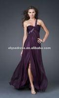 Affordable A-line Chiffon Custom Made Grape Designer Prom Cocktail Dresses