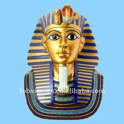 Résine égyptien roi buste figure statue