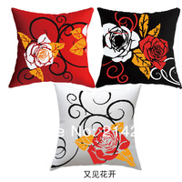 Наволочка 3 pcs/lot popular high quality 50cm*50cm creative flower unfinished DIY cross stitch pillow case cushion cover