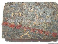 Чай Пуэр 03 pu-erh tea yun nan tong qing hao classical puer ripe tea brick 250g +Secret Gift